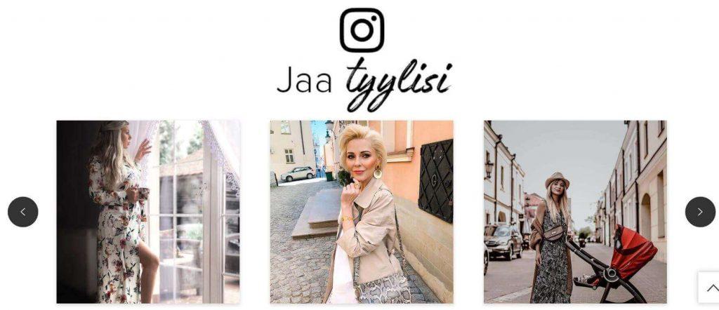 Cellbesin Naiset -osasto näkyy myös Instagramissa.