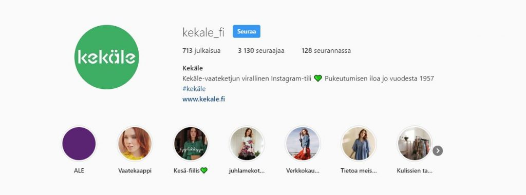 Kekäle Instagram tili